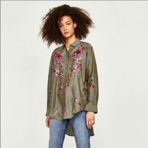🌺Zara Embroidered Blouse🌺